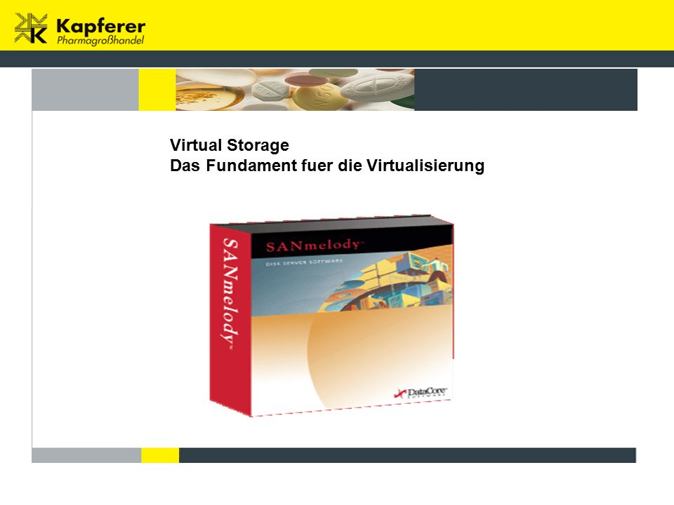 Virtual Storage Das Fundament fuer die Virtualisierung