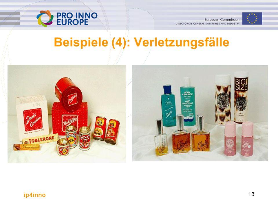 ip4inno 13 Beispiele (4): Verletzungsfälle.