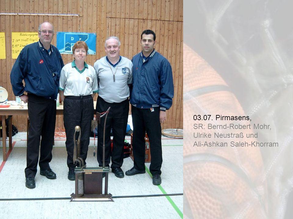 03.07. Pirmasens, SR: Bernd-Robert Mohr, Ulrike Neustraß und Ali-Ashkan Saleh-Khorram