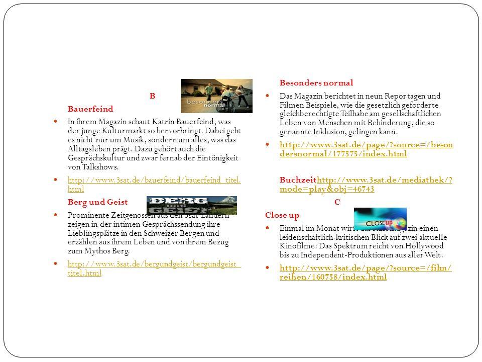 B Bauerfeind In ihrem Magazin schaut Katrin Bauerfeind, was der junge Kulturmarkt so hervorbringt. Dabei geht es nicht nur um Musik, sondern um alles,