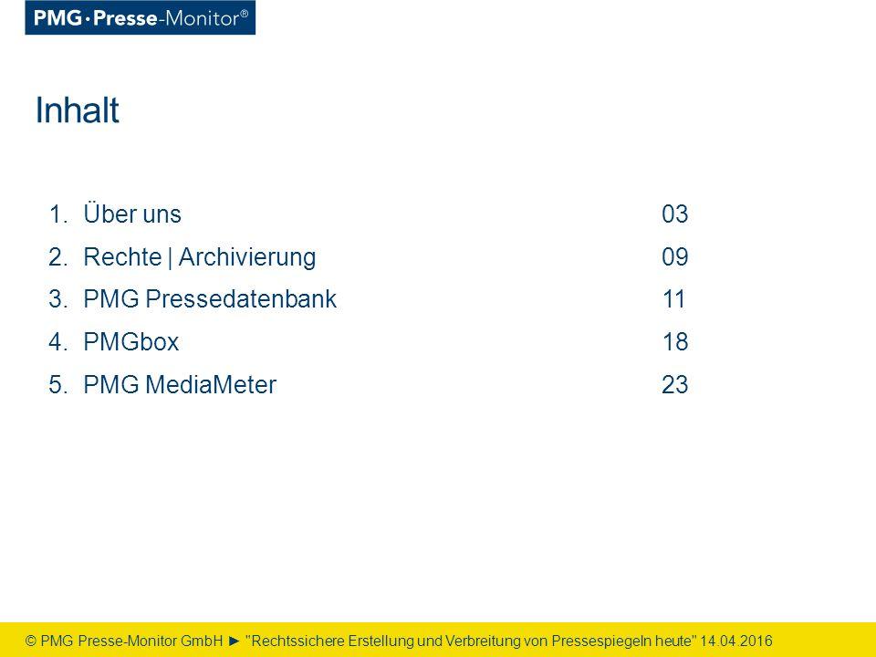PMG MediaMeter Die neue Medienanalyse – Digital | Einfach | Direkt © PMG Presse-Monitor GmbH ► Rechtssichere Erstellung und Verbreitung von Pressespiegeln heute 14.04.2016