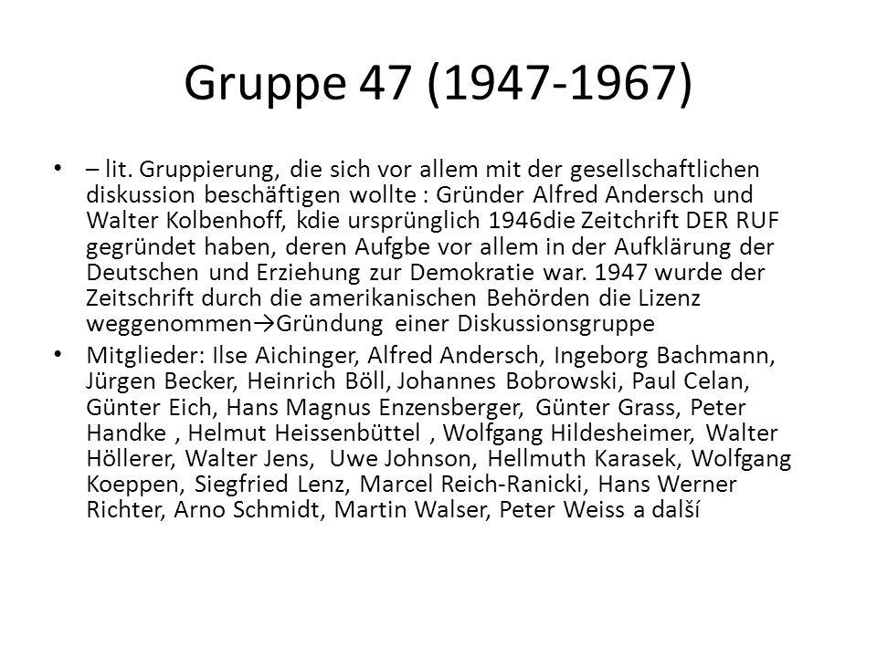 Gruppe 47 (1947-1967) – lit.