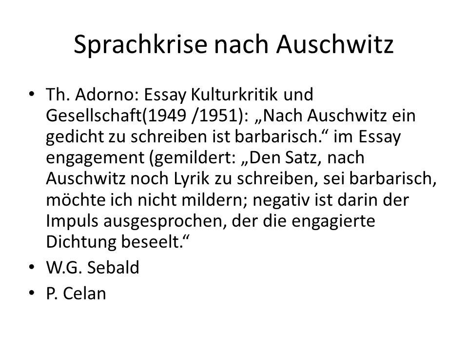 Sprachkrise nach Auschwitz Th.