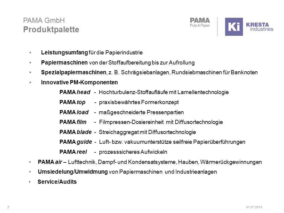 PAMA GmbH Moderne Produktionsstätten 8 01.07.2013
