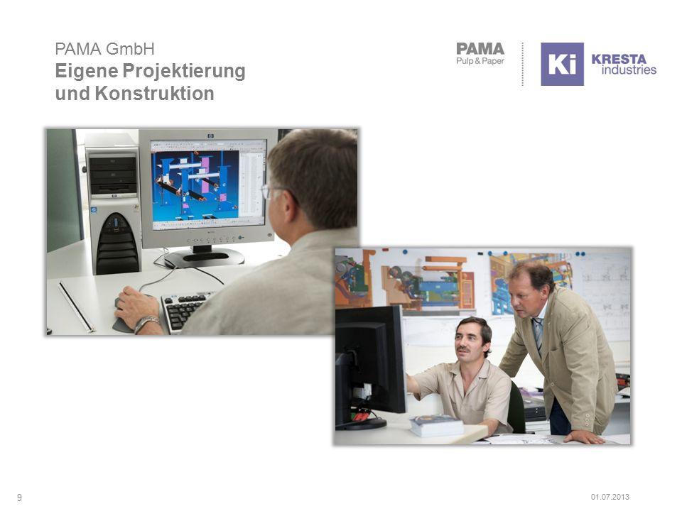 PAMA GmbH Eigene Projektierung und Konstruktion 9 01.07.2013