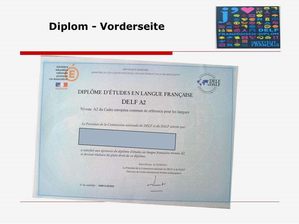 Diplom - Vorderseite