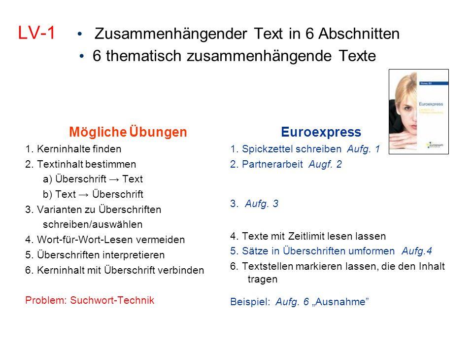 Leseverstehen - Strategien 1. Überschriften2. Info-Suche3.