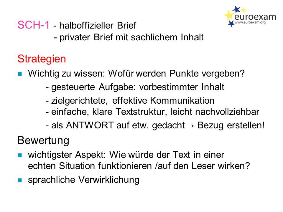 Prüfungsteile - B2  Sprachmittlung  Leseverstehen  Schreiben  Hörverstehen  Sprechen 1.Brief 2.Wahlthema