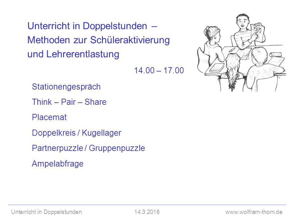 Unterricht in Doppelstunden14.3.2016www.wolfram-thom.de AußenkreisInnenkreis Buon giorno.