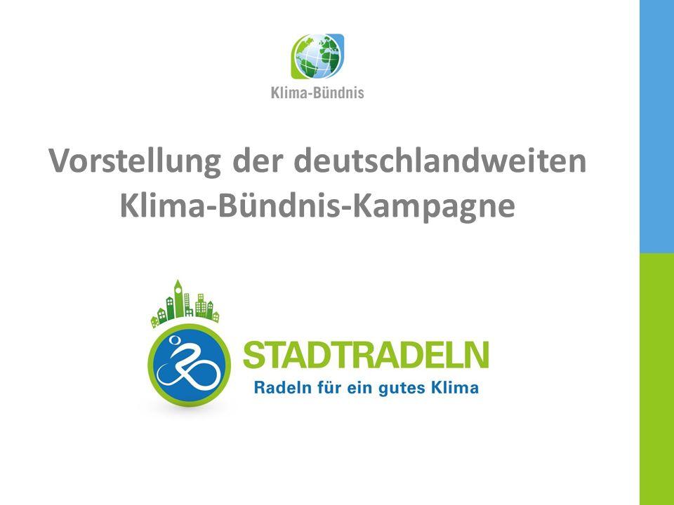 HAUPTPARTNEREINE KAMPAGNE DES 1 / 21 Vorstellung der deutschlandweiten Klima-Bündnis-Kampagne