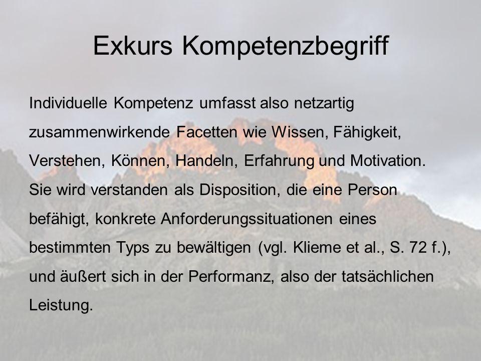 Qualifikationen (I) 1.