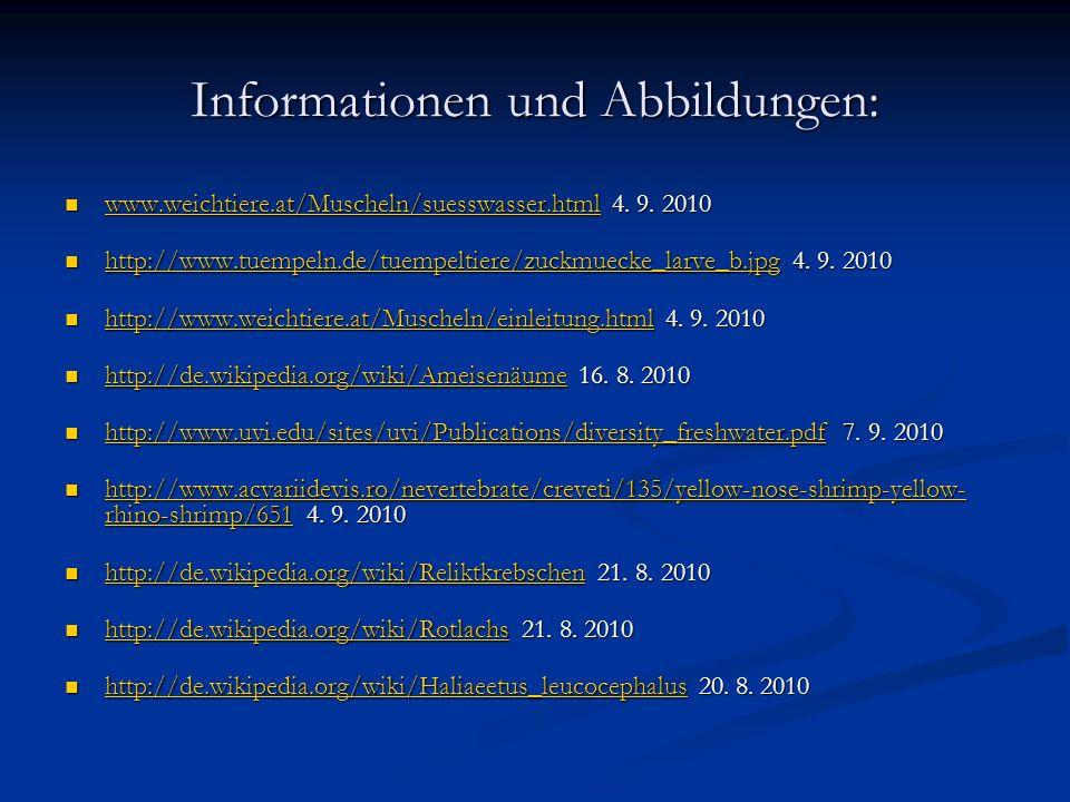Informationen und Abbildungen: www.weichtiere.at/Muscheln/suesswasser.html 4.