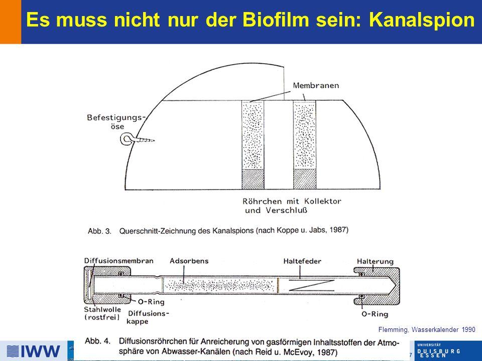 17 Biofilm Centre Es muss nicht nur der Biofilm sein: Kanalspion Flemming, Wasserkalender 1990