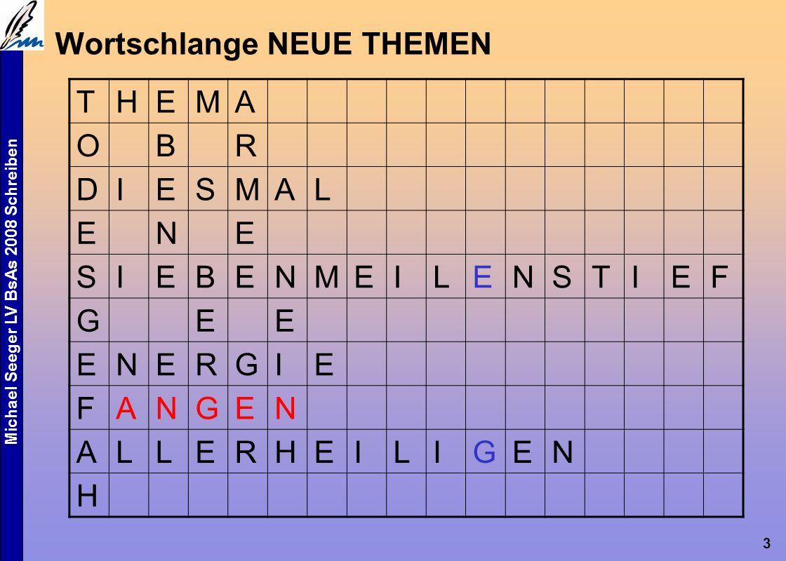 Michael Seeger LV BsAs 2008 Schreiben 3 Wortschlange NEUE THEMEN THEMA OBR DIESMAL ENE SIEBENMEILENSTIEF GEE ENERGIE FANGEN ALLERHEILIGEN H