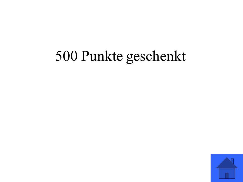 500 Punkte geschenkt