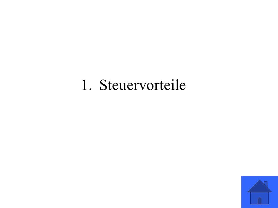 1.Steuervorteile