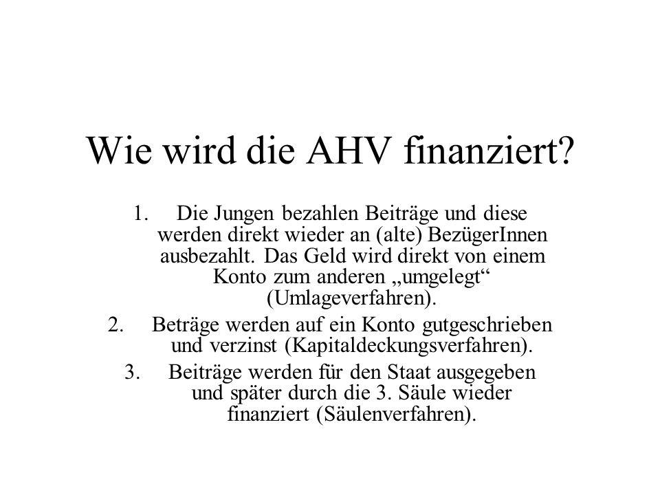 Wie wird die AHV finanziert.