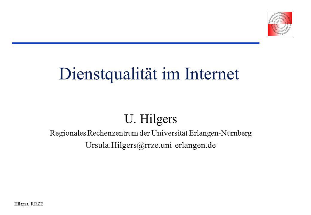 Hilgers, RRZE Dienstqualität im Internet U.