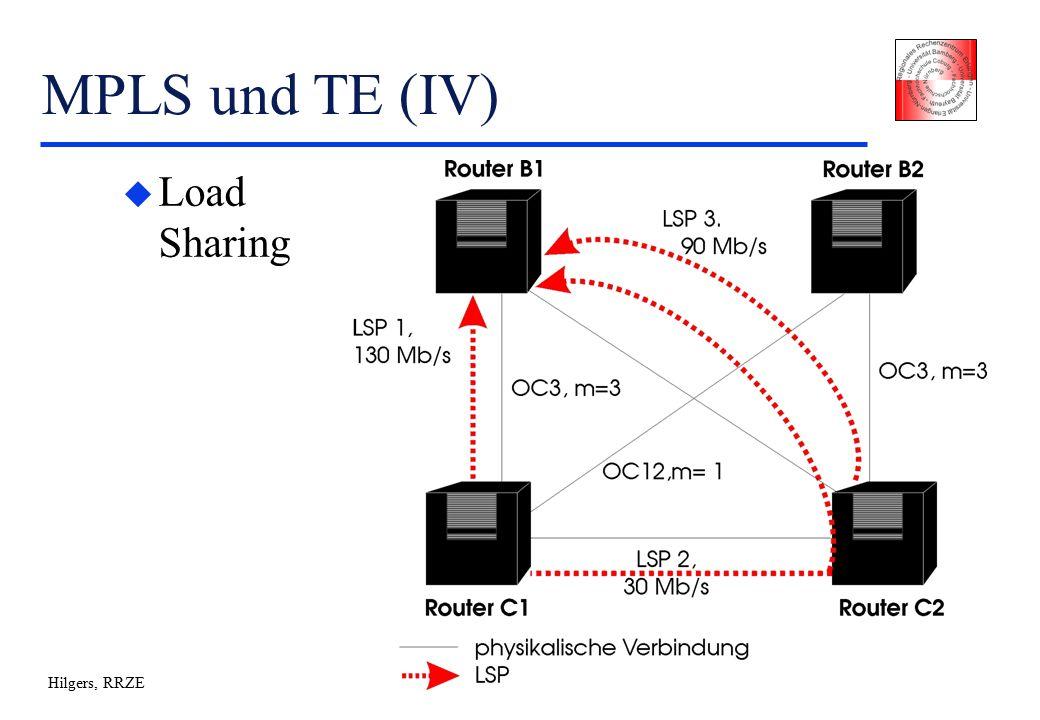 Hilgers, RRZE MPLS und TE (IV) u Load Sharing