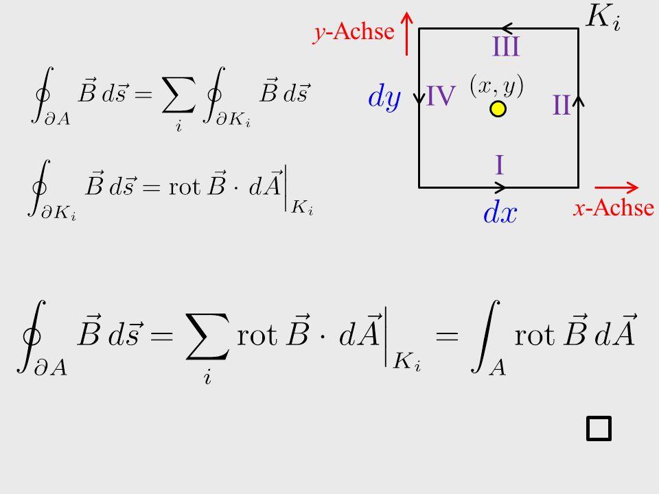 x-Achse y-Achse I II III IV