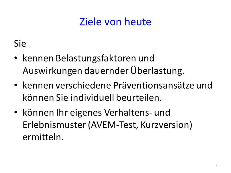 """Programm 1.2 betroffene Lehrer (10vor10 vom 5.4.07) 2.Ihre subjektiven Theorien zu Phänomen, Ursachen & Prävention 3.Kurzinput (AB): Theoretische Ergänzungen zum Erscheinungsbild, den Ursachen & zum Burnoutbegriff 4.Massnahmen (Arbeitspapier) 5.AVEM """"Arbeitsbezogene Verhaltens- & Erlebensmuster (U."""
