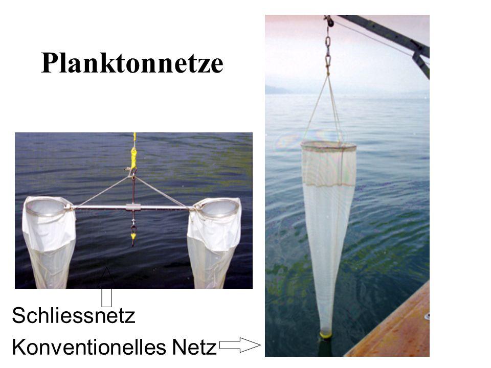 Schliessnetz Konventionelles Netz Planktonnetze