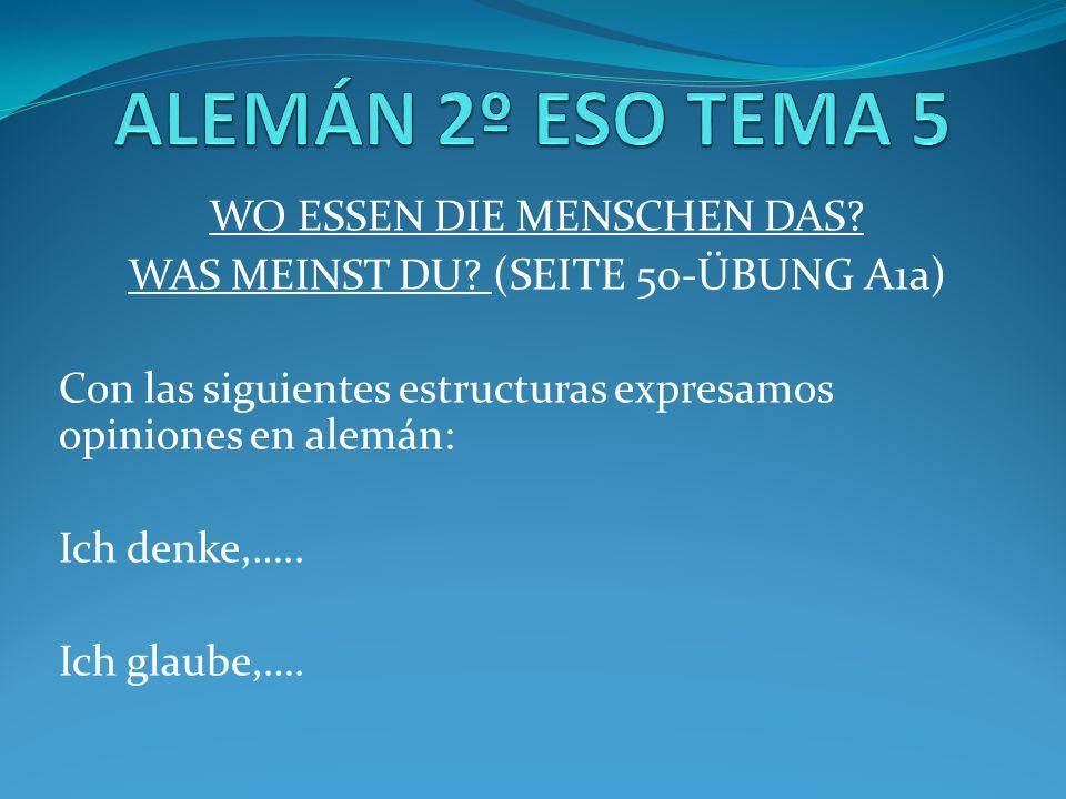 ICH ESSE GERN…ICH TRINKE GERN (SEITE 52- ÜBUNG B2ab) Das Ei -> Die...
