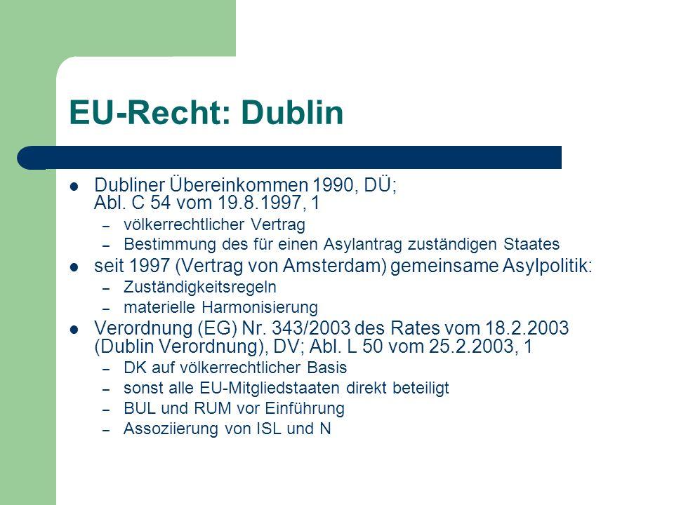 EU-Recht: Dublin Dubliner Übereinkommen 1990, DÜ; Abl.