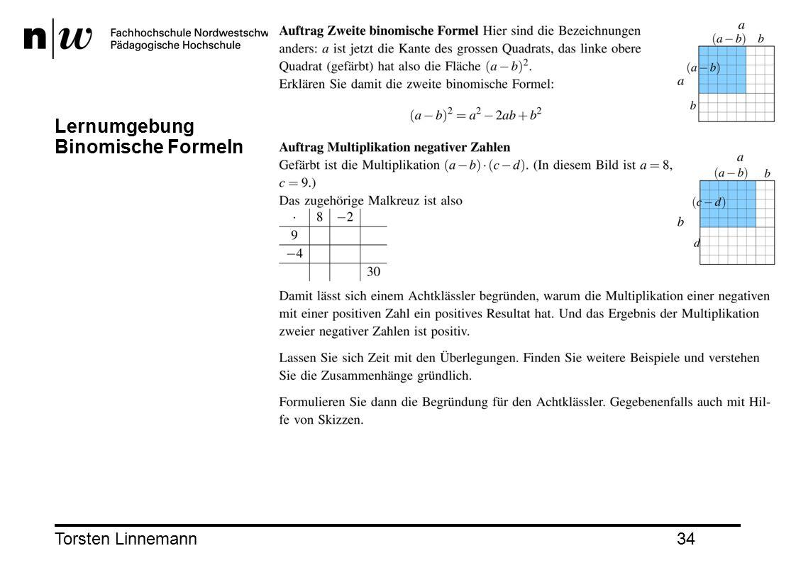 Torsten Linnemann34 Lernumgebung Binomische Formeln