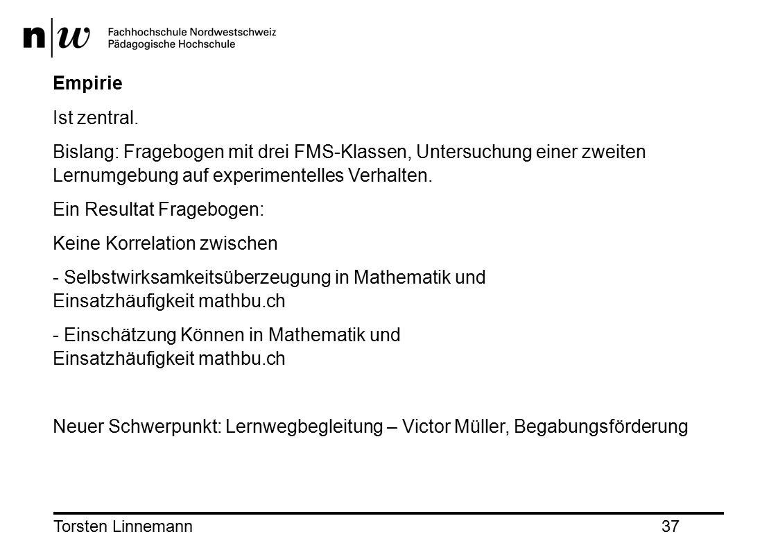 Torsten Linnemann37 Empirie Ist zentral.