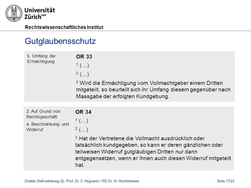 Rechtswissenschaftliches Institut Seite 17/23 b.