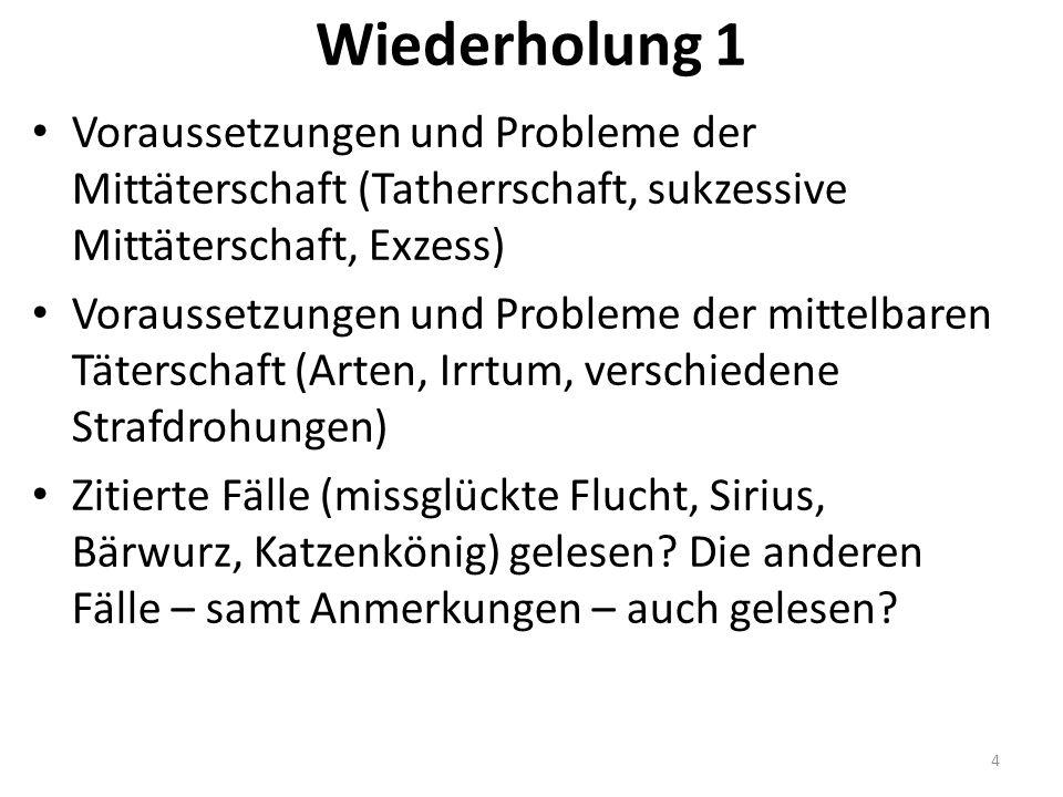 Beispiele Beulke KK I, Rn.165; II, Rz. 24; III, Rz.