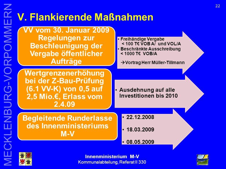 Innenministerium M-V Kommunalabteilung, Referat II 330 MECKLENBURG-VORPOMMERN 22 V.