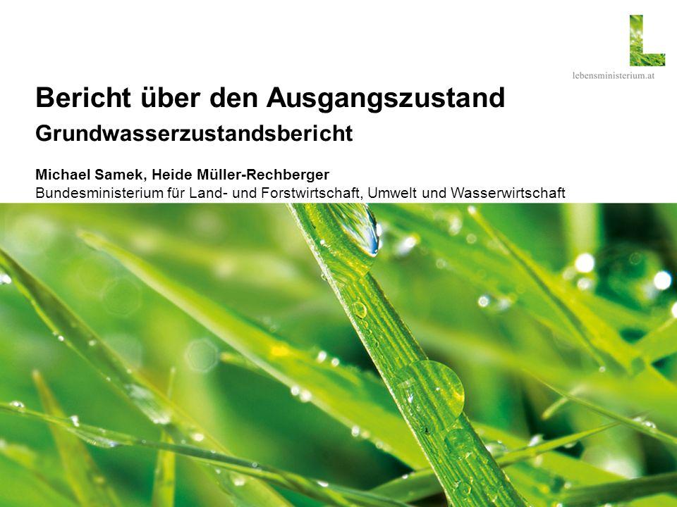 Seite 1 Bericht über den Ausgangszustand WKO Informationsveranstaltung Bericht über den Ausgangszustand Grundwasserzustandsbericht Michael Samek, Heid