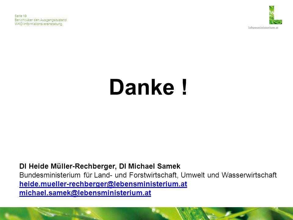 Seite 19 Bericht über den Ausgangszustand WKO Informationsveranstaltung Danke .