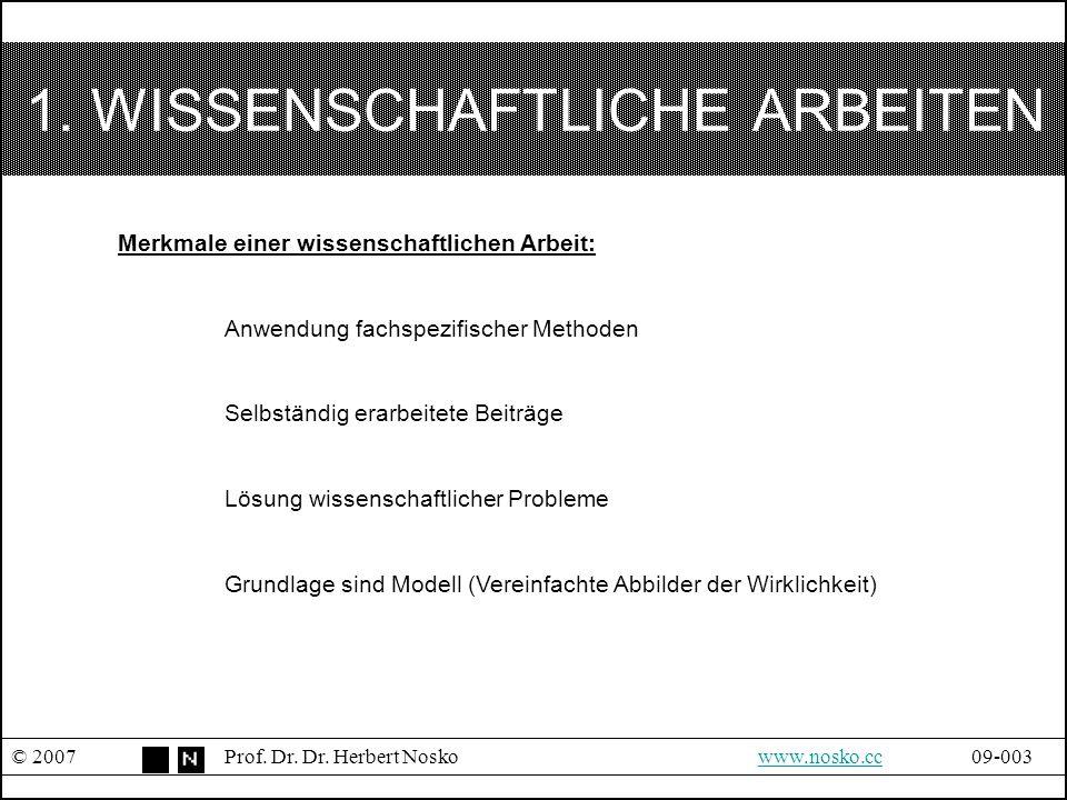 SCHRITTE ZUR ANFERTIGUNG © 2007Prof.Dr. Dr.