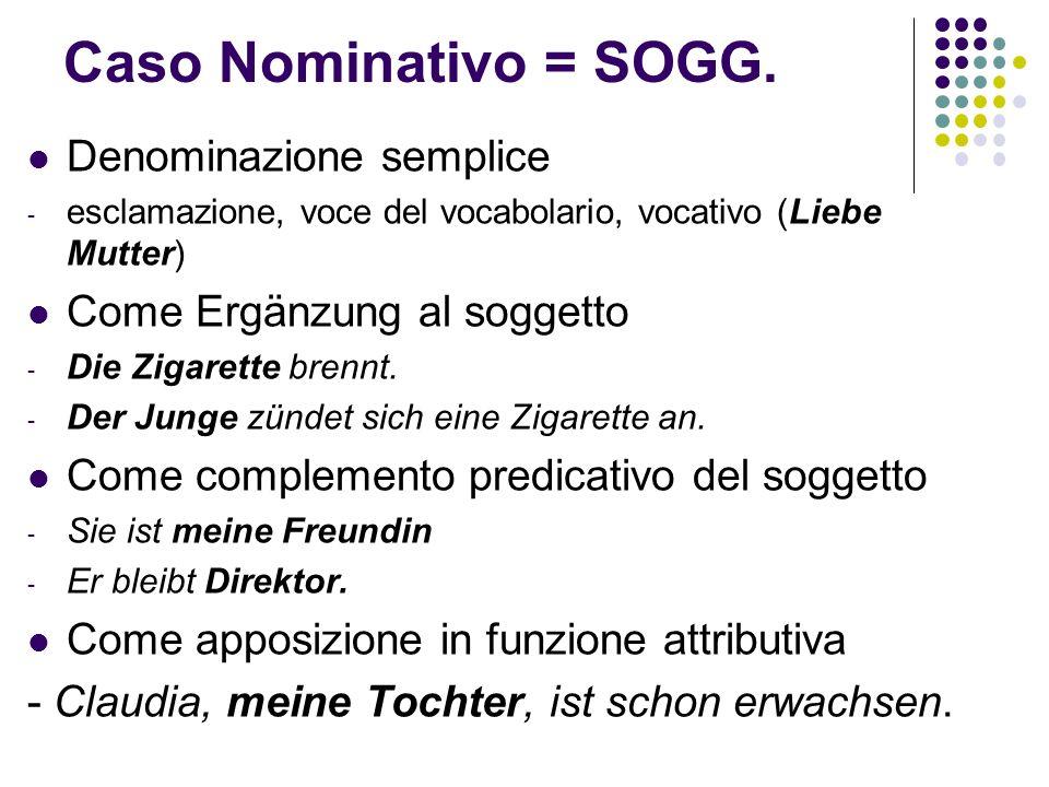 Caso Nominativo = SOGG.