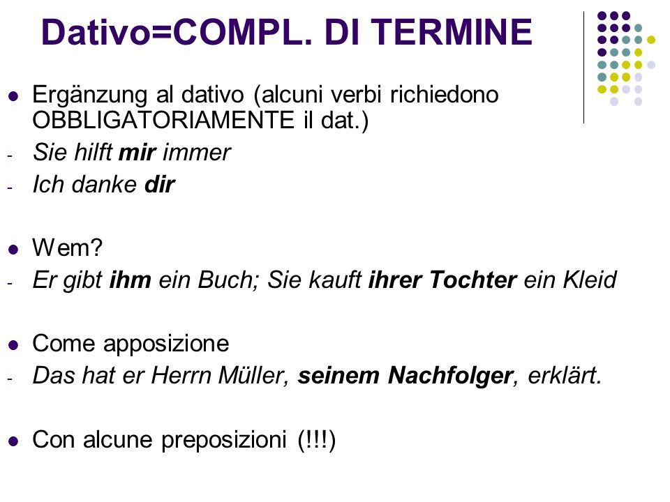 Dativo=COMPL.