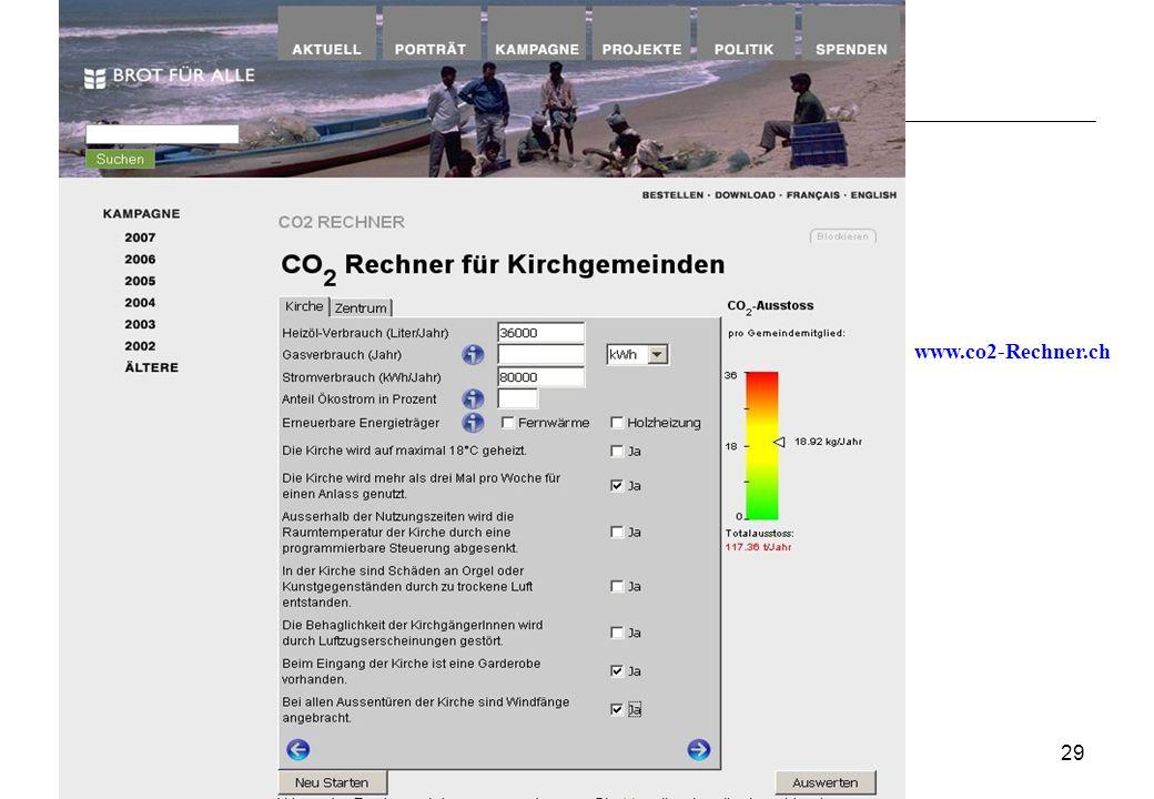 29 www.co2-Rechner.ch