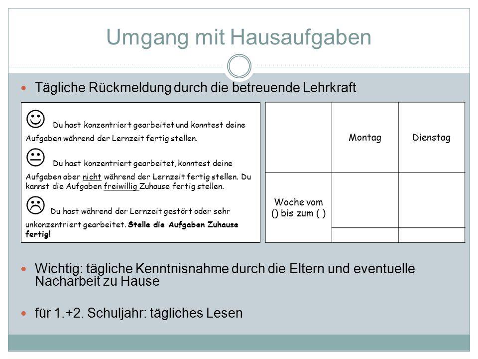 Arbeitsgemeinschaften (AGs) 1./2.
