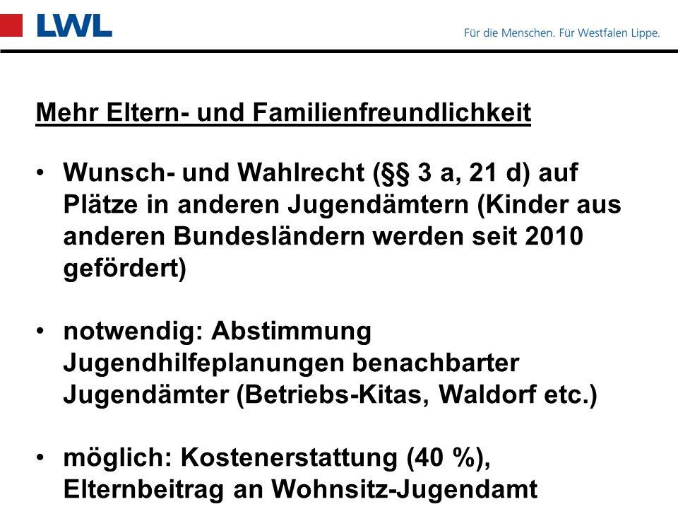 plusKITA (§§ 16a, 21a) Bildungsgerechtigkeit: Kitas mit vielen Kindern mit besonderem Unterstützungsbedarf (herkunftsbedingt oder sozial benachteiligte Kinder) 45 Mio.