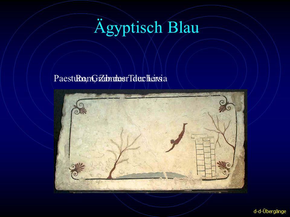 Ägyptisch Blau Rom, Zimmer der LiviaPaestum, Grab des Tauchers d-d-Übergänge