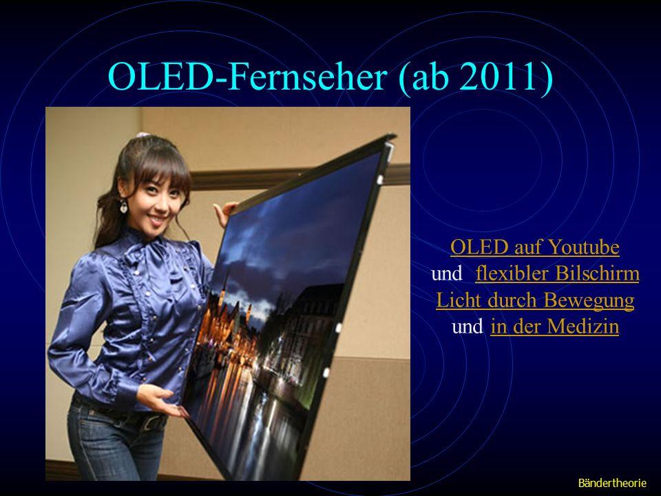 OLED-Fernseher (ab 2011) OLED auf Youtube und flexibler Bilschirmflexibler Bilschirm Licht durch Bewegung und in der Medizinin der Medizin Bändertheorie