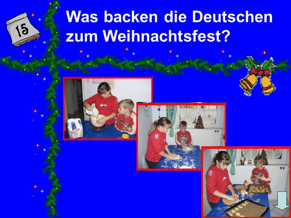 Was backen die Deutschen zum Weihnachtsfest?