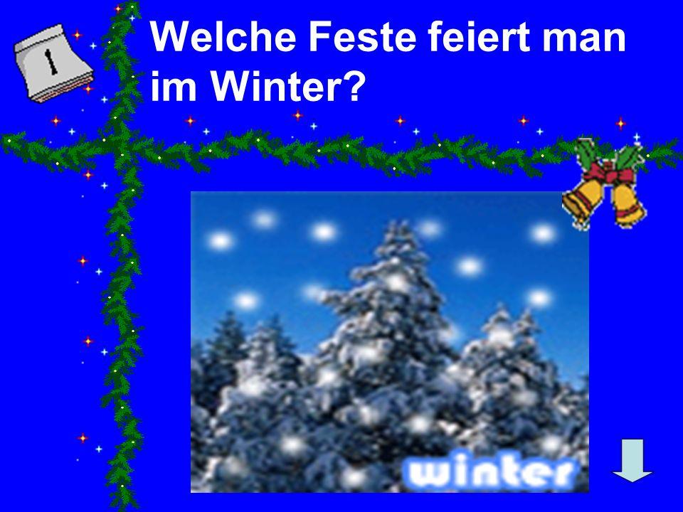 Welche Feste feiert man im Winter?