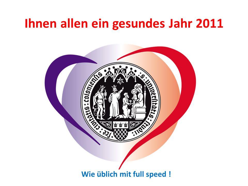 Ihnen allen ein gesundes Jahr 2011 Wie üblich mit full speed !