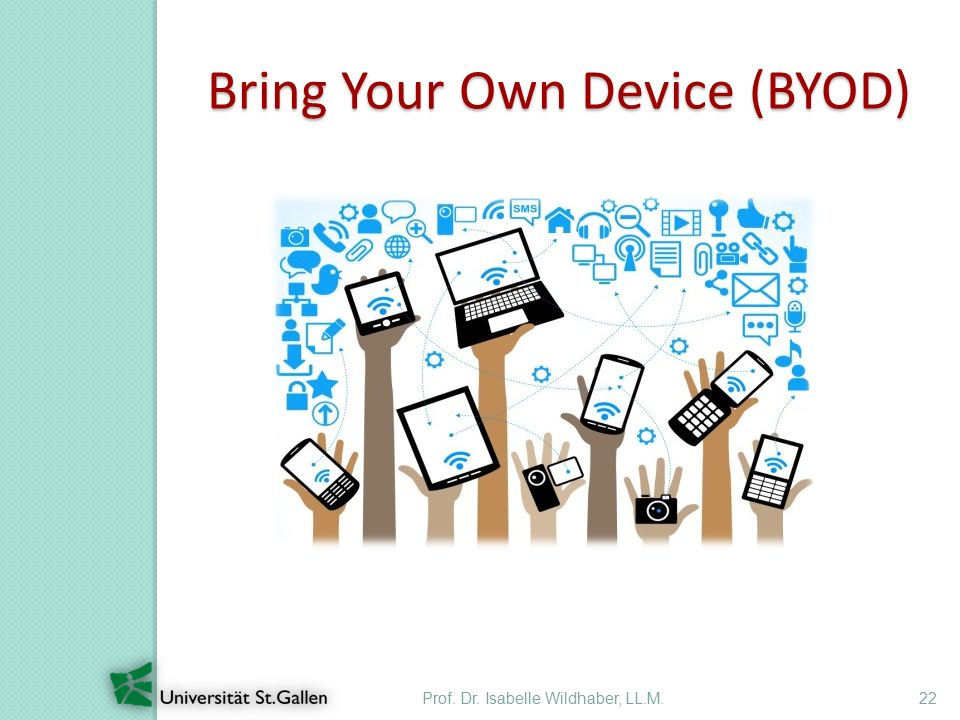 Prof. Dr. Isabelle Wildhaber, LL.M.22 Bring Your Own Device (BYOD)