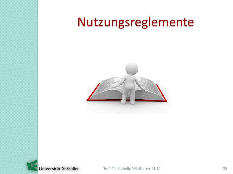 Prof. Dr. Isabelle Wildhaber, LL.M.28 Nutzungsreglemente