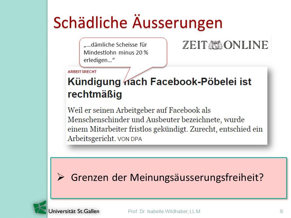Prof. Dr. Isabelle Wildhaber, LL.M.20 Googeln von Stellenbewerbern