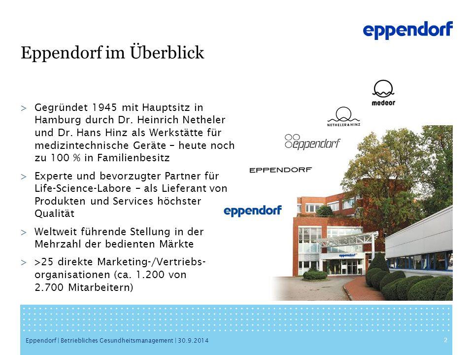 Eppendorf im Überblick >Gegründet 1945 mit Hauptsitz in Hamburg durch Dr.